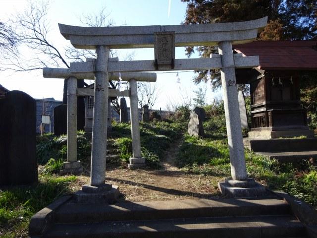 赤塚諏訪神社富士塚1